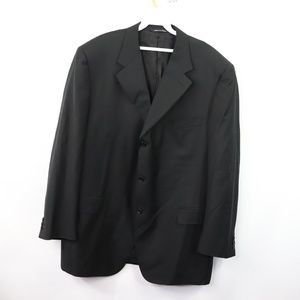 Canali Mens 50 R Super 130s 3 Button Blazer Black